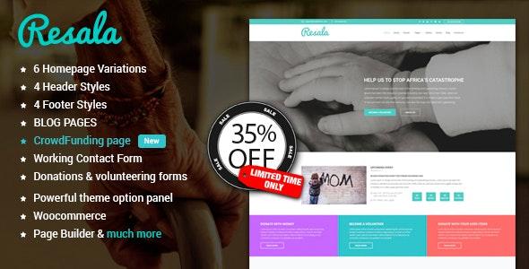 Resala WordPress theme - Charity Nonprofit