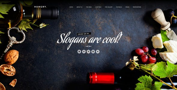 Hungry | A WordPress One Page Restaurant Theme