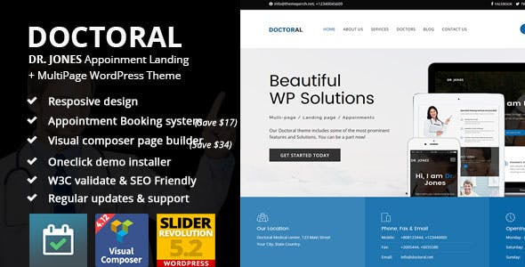 Doctoral Appointment Multipage   Landing Page Theme