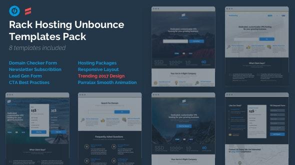 Rack Hosting - Unbounce Landing Page Templates Bundle Pack - Unbounce Landing Pages Marketing