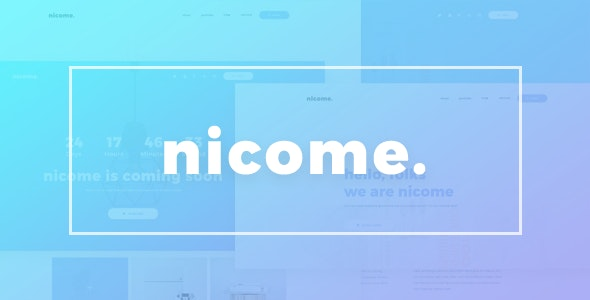 Nicome - Creative Multipurpose PSD Template - Creative Photoshop