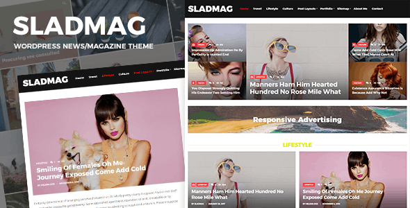 Sladmag - Responsive News/Magazine WordPress Theme - Blog / Magazine WordPress