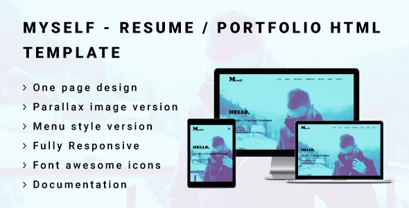 MYSELF - Resume or Portfolio HTML Template - Portfolio Creative