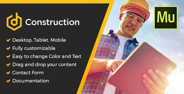 dConstruction Muse Template - Corporate Muse Templates
