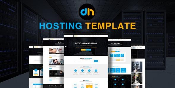 dHosting - Multi Purpose PSD Template - Hosting Technology