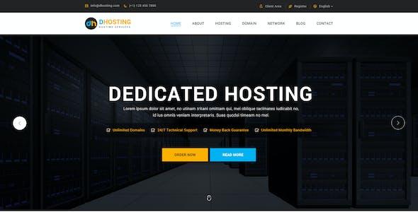 dHosting - Multi Purpose PSD Template