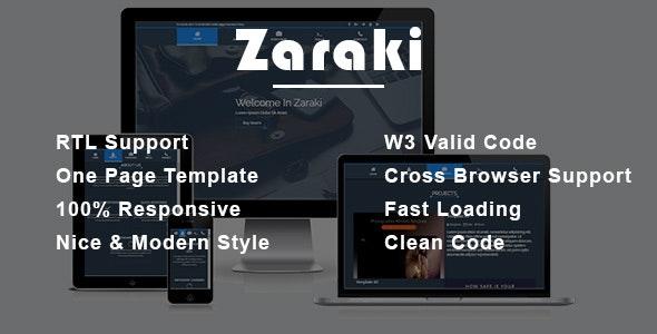 Zaraki - Personal Portfolio HTML Template - Portfolio Creative