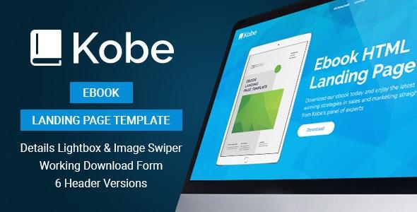 Kobe - Ebook Landing Page Template - Marketing Corporate