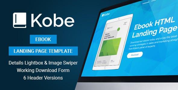 Kobe - Ebook Landing Page Template