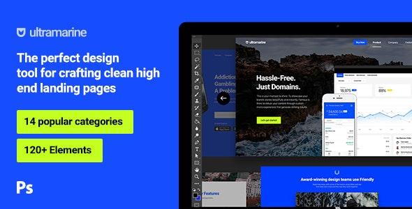 Ultramarine UI Kit - Photoshop UI Templates
