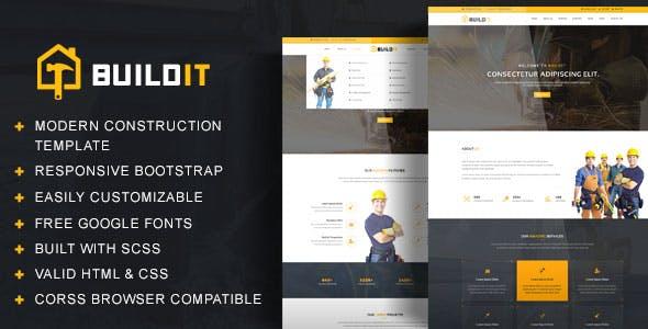 BuildIt - Construction HTML Template