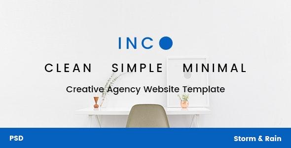 INC. - Minimal Creative Agency Website PSD Template - Creative Photoshop