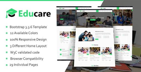 Educare - Education HTML Template - Business Corporate