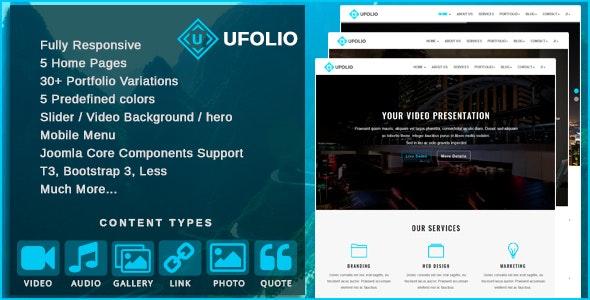 Ufolio Multipurpose Portfolio Joomla Template By