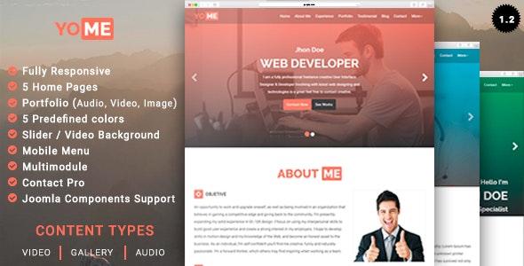 Yome Multipurpose Resume Joomla Template By Unitemplates