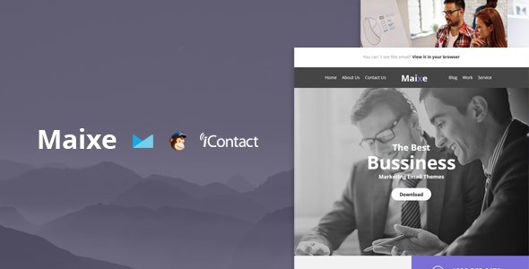 Maixe Mail- Responsive E-mail Template + Online Access - Email Templates Marketing