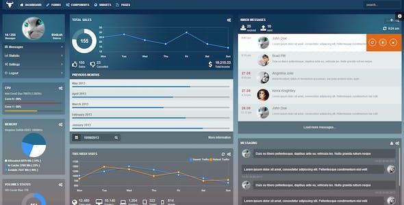 Taurus - Responsive Bootstrap Admin Template