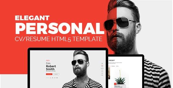 Elegant - Personal CV/Resume Portfolio HTML5 Template - Resume / CV Specialty Pages