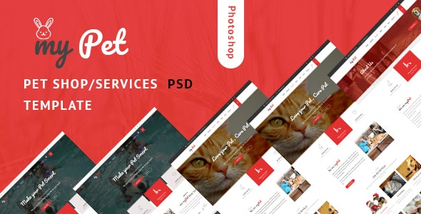 MyPet - Pet Shop & Veterinary PSD Template - Business Corporate