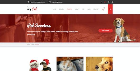 MyPet - Pet Shop & Veterinary PSD Template