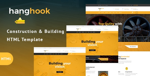 Hanghook - Construction & Building HTML Template - Business Corporate