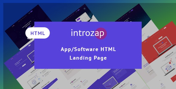 IntroZap: App/Software Landing Page - Marketing Corporate