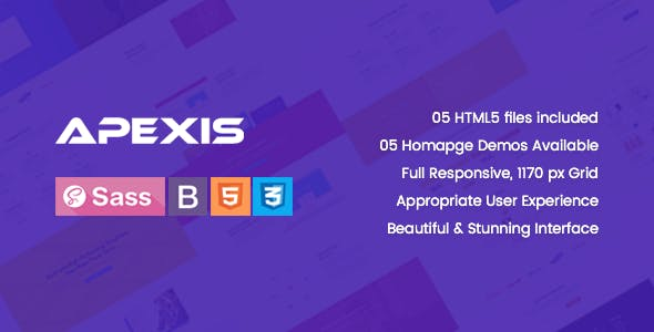 Apexis - Responsive Bootstrap 4 Software & WebApp HTML5 Template