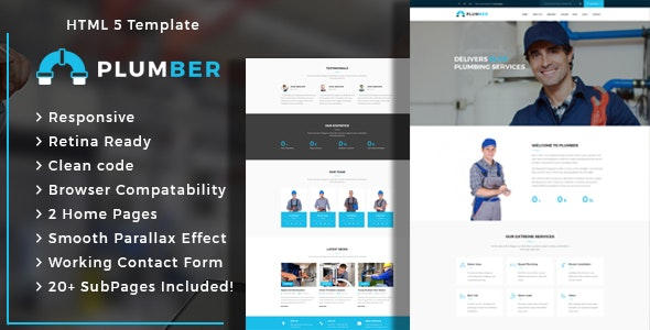 Plumber - Plumbing and Construction HTML Template - Business Corporate