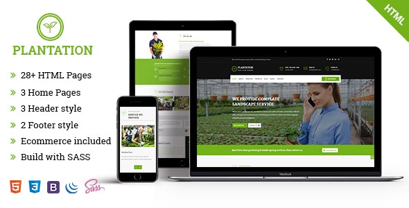 Plantation - Gardening and Landscaping Responsive HTML5 Template - Corporate Site Templates
