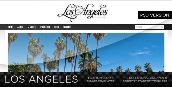 Los Angeles - A Premium PSD Template - Creative Photoshop