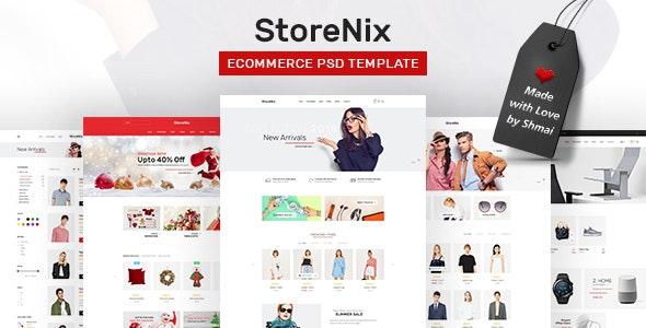 StoreNix - Multipurpose Ecommerce PSD Template - Shopping Retail