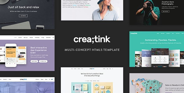 Crea;tink Multi-Concept HTML5 Template - Corporate Site Templates