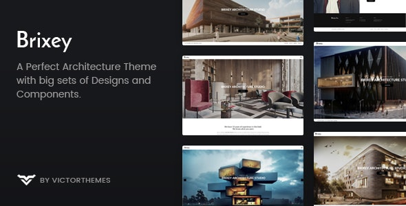 Brixey – Responsive Architecture WordPress Theme - Real Estate WordPress
