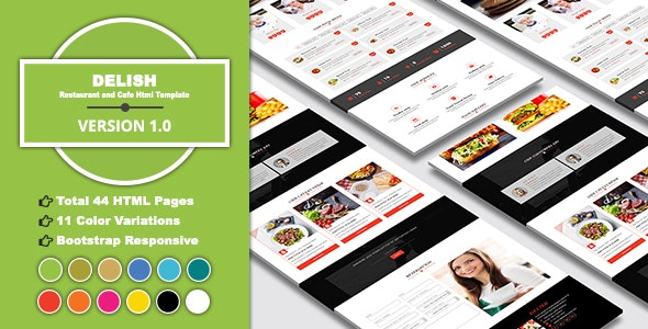 DELISH - Restaurant and Cafe HTML Template - Restaurants & Cafes Entertainment
