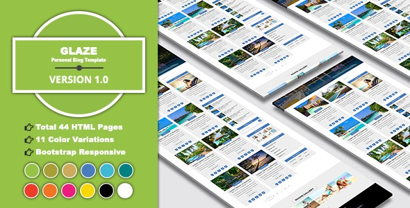 GLAZE - Personal Blog Template - Personal Site Templates