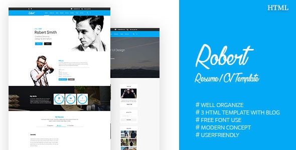 Robert || Resume / CV Template - Portfolio Creative