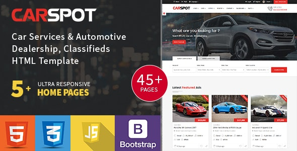 Modern Classified - Ad Listing - Car Services - Inventory - Marketplace Template - Carspot - Business Corporate