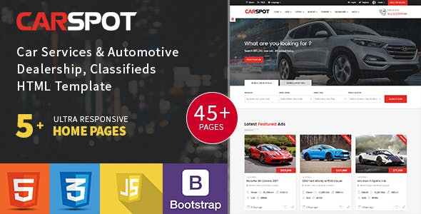 Modern Classified - Ad Listing - Car Services - Inventory - Marketplace Template - Carspot