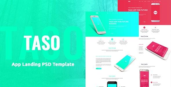 Taso - App Landing PSD Template - Photoshop UI Templates