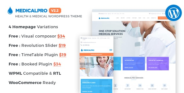 MedicalPro - Health and Medical WordPress Theme - Health & Beauty Retail