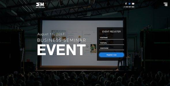 Event Maker - Events, Meetings & Seminars PSD Template