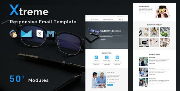 Xtreme - Multipurpose Responsive Email Template - Newsletters Email Templates