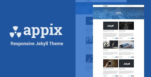 Appix - Minimal Responsive Jekyll Blog Template