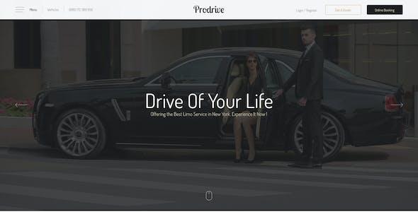Prodrive - Limousine, Transport, Car Hire PSD Template