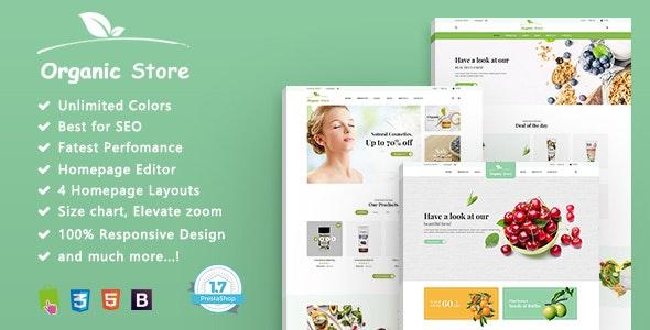 Organic - Multipurpose, Freshness, Responsive Prestashop 1.7 Theme - PrestaShop eCommerce