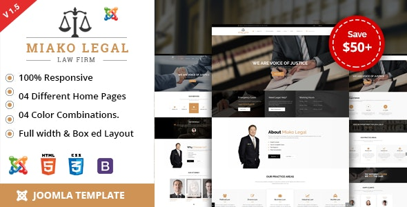 Miako Legal | Law Firm Joomla Template - Business Corporate