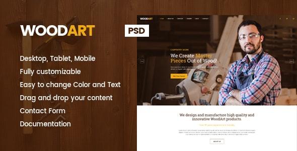 WoodArt - Carpenter PSD Template - Miscellaneous Photoshop