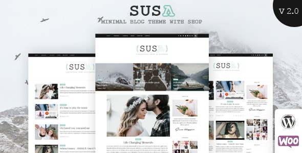 Susa - Responsive WordPress Blog Theme - Blog / Magazine WordPress
