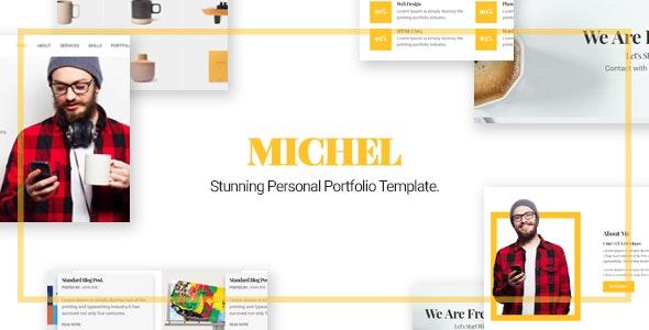 Michel - Personal Portfolio Template - Personal Site Templates