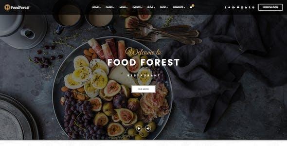 FoodForest   Restaurant PSD Template